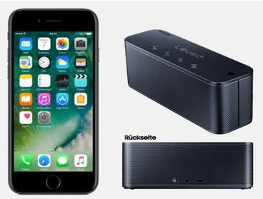iPhone 7 Plus + Samsung Level Box + Vodafone AllNet und SMS Flat + 2GB LTE bis 500 Mbit/s  für nur 39,99€ mtl.