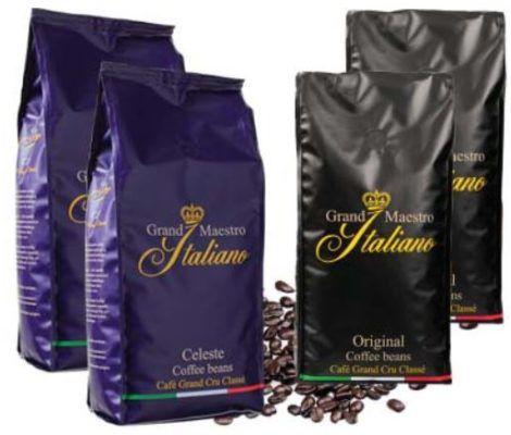 Grand Maestro Italiano   Promopack mit 4kg Kaffeebohnen für 39,99€ + gratis Kaffe Clip