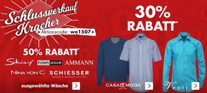 Karstadt Kracher mit z.B. 30% Rabatt auf ausgewählte Herren Hemden und Reisegepäck...