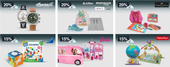 15% auf Spielwaren: Barbie, Fisher Price, Ravensburger ministeps   20% auf ausgewählte Herrenmode uvm.   Galeria Kaufhof Mondschein Angebote