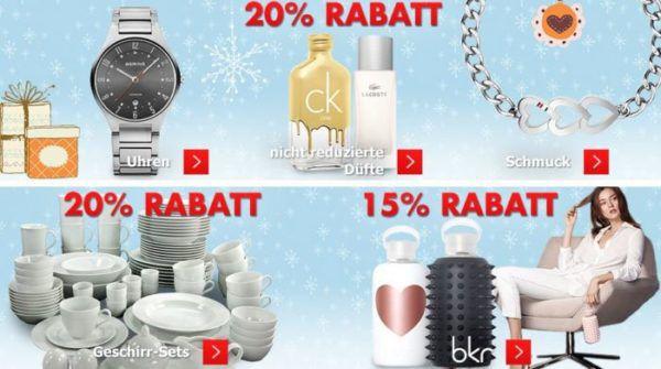 Karstadt Kracher mit z.B. 20% Rabatt auf Uhren, 50% auf ausgewählte Spielzeuge und mehr