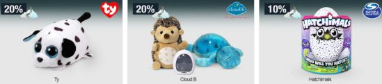 20% Rabatt auf ausgewählte Spielwaren, Herrenwäsche, Sportmarken uvm.   Galeria Kaufhof Mondschein Angebote
