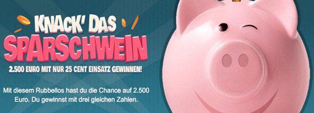70 Rubbellose Knack das Sparschwein + 2 Lotto Felder nur 9,99€   nur Lottopalace Neukunden