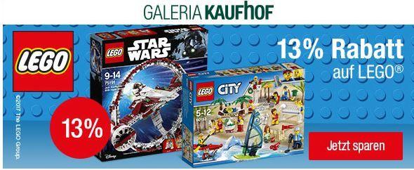 13% Rabatt auf LEGO Duplo, LEGO Friends oder LEGO Star Wars & Co. bei Galeria Kaufhof