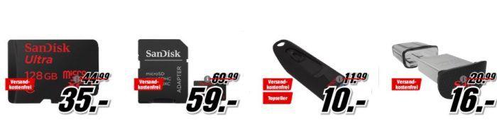 Media Markt SanDisk Tiefpreisspätschicht   günstiger Speicher z.B. Sandisk Ultra microSDXC 128GB statt 45€ für 35€
