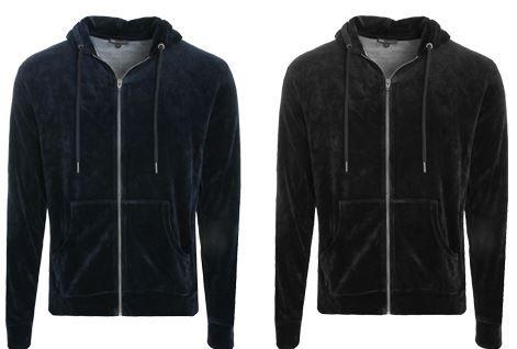 MOSS COPENHAGEN Byron Velour Herren Sweat Jacke Restgrößen statt 38€ für nur 14,99€