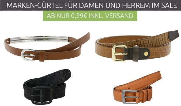 Marken Gürtel Sale für Damen ab 0,99€ und Herren ab 4,99€