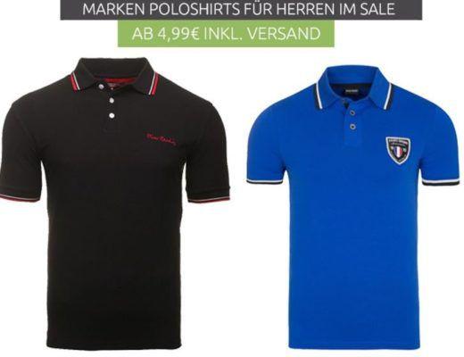 GRIZZLY Barcelona, Helly Hansen, Pierre Cardin und andere Herren Marken Polo Shirts ab 9,99€