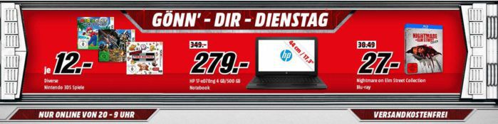PS4 Slim 1TB mit Gratis: Call of Duty + Thats You! + Prey + Watch Dogs 1 + 2 statt 339€ für 255€ uam. im Media Markt Dienstag Sale