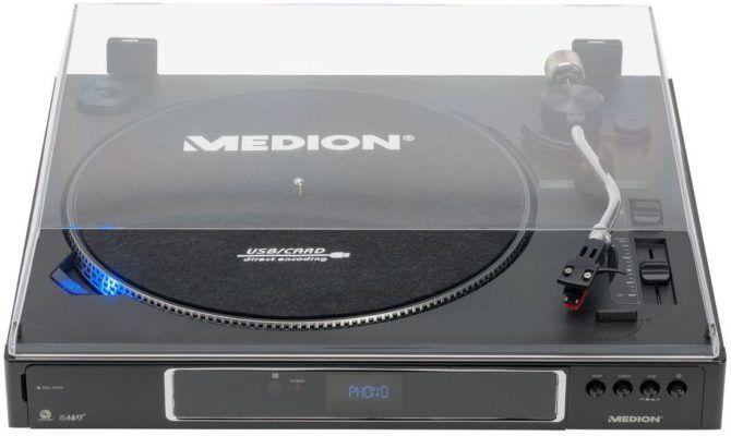 MEDION LIFE P67006 vollautomatischer Plattenspieler mit USB Umwandlung für 59,95€