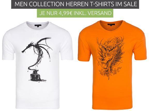 Men Collection Herren T Shirts für je 4,99€