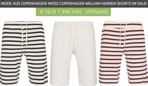 Moss Copenhagen William Stripe Herren Freizeit Shorts [S oder M] für je 1,99€ (statt 19€)