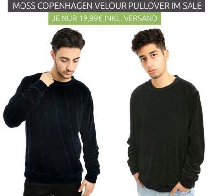MOSS COPENHAGEN Cristopher   Herren Velour Pullover statt 93€ für je 19,99€