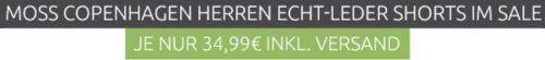 MOSS COPENHAGEN Axel Black   Herren Echtleder Shorts für je 34,99€