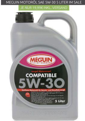 MEGUIN Megol   5L Motorenöl SAE 5W 30 für 19,99€