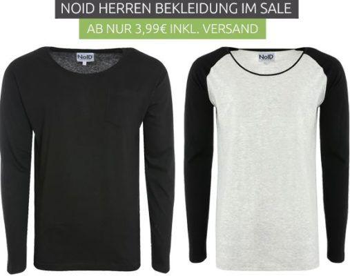 NoID Herren Sale: günstige Shirts, Tank Tops, Baseball Langarm Shirts   z.B. NoID Longsleeve Shirt statt 25€ für 7,99€