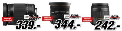 Media Markt Foto Late Night: Objektiv und Drohnen Sale   z.B. PARROT Bebop 2 FPV Drohne für 499€