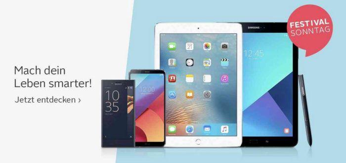 Otto Sonntag Aktion mit günstigen Smartphones und Tablets   z.B. Apple iPad Pro 12.9 (2017) 64GB für 764,99€