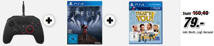 PS4 Slim 1TB mit Gratis: Call of Duty + Thats You! + Prey + Watch Dogs 1 + 2 statt 339€ für 255€ uam. im Media Markt Dienstag Sale