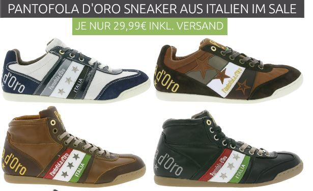 Pantofola DOro   Leder Sneaker Restgrößen statt 79€ für 29,99€