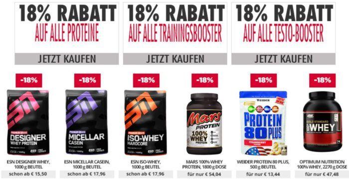18% Rabatt auf ESN Protein und Booster bei Fitmart   auch auf Staffelpreise
