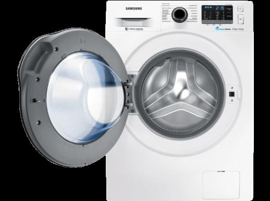 SAMSUNG WD72J5400AW/EG Waschtrockner   7 kg Waschen / 5 kg Trocknen für 599€ (statt 663€)