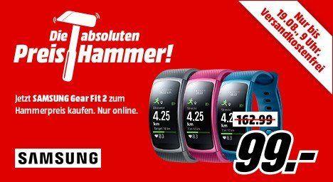 Samsung Gear Fit 2 Fitness Tracker für je 99€ (statt 135€)