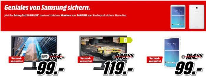Media Markt Samsung mini Sale   z.B. Galaxy Tab E 9.5 Zoll Tablet 8GB für 99€