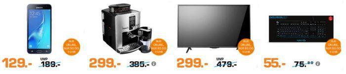 Saturn Late Night Shopping Übersicht   u.a.: Krups EA829E Latt´Espress Kaffeevollautomat statt 346 für 299€