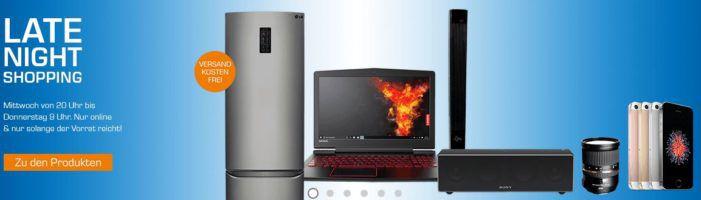 Saturn Late Night Shopping Übersicht   u.a.: Lenovo Legion Y520 15,6 Zoll Gaming Notebook für 739€