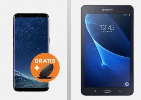 Samsung Galaxy S8 + gratis Ladestation + Galaxy Tab A 7.0 für 1€ + Vodafone Allnet Flat mit 2GB LTE für 39,99€ mtl.