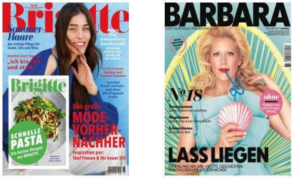 Große Abo Sommerkampagne   z.B. Brigitte Jahresabo für 83,20€ + 70€ Gutschein