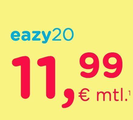eazy Internet Zugang (Unitymedia) mit 20 Mbit/s für 11,99€ mtl.   oder 50 Mbit/s für 19,99€ mtl.