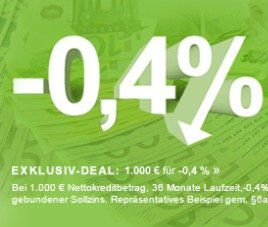 Smava Kredit über 1.000€   nur 994€ zurückzahlen