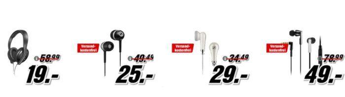 Media Markt Sennheiser Tiefpreisspätschicht   z. B. Sennheiser CX 5.00 G Kopfhörer statt 65€ für 49€