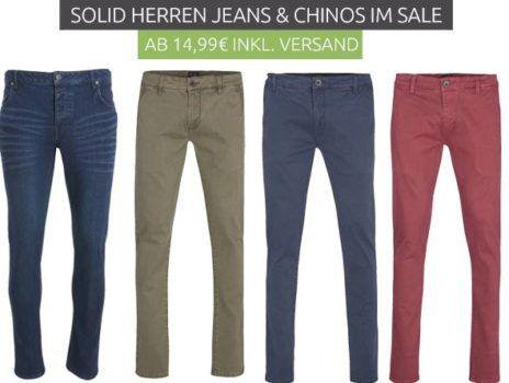 Solid Herren Jeans & Chinos im Sale ab 14,99€