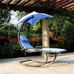 iKayaa Rocking Outdoor Sonnenliege für nur 62,04€ inkl. Versand