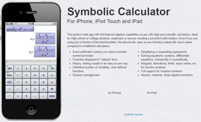 Symbolic Calculator (iOS) gratis   statt 3,49€
