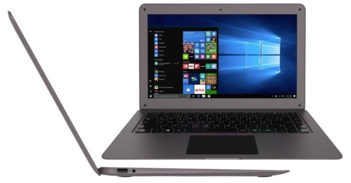 TREKSTOR SURFBOOK W1   14 Zoll ultra flaches Win 10 Notebook mit 32GB und 2 GB RAM für 155€