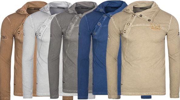 Tazzio Buttons Langarm Shirts statt 20€ für je nur 9,99€