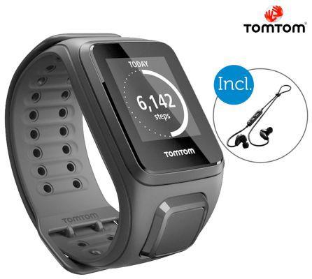 TomTom Spark Spark Cardio + Music   Aktivitätstracker + Bluetooth Kopfhörer für 125,90€