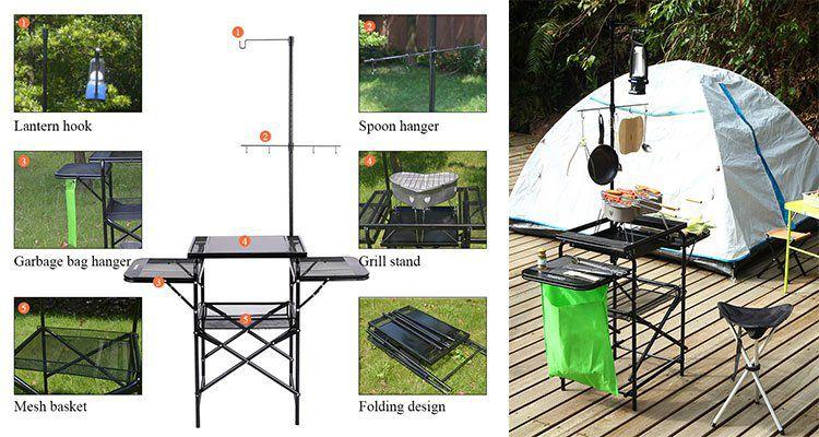TOMSHOO Outdoor Pack Away Küche für ~26,38€