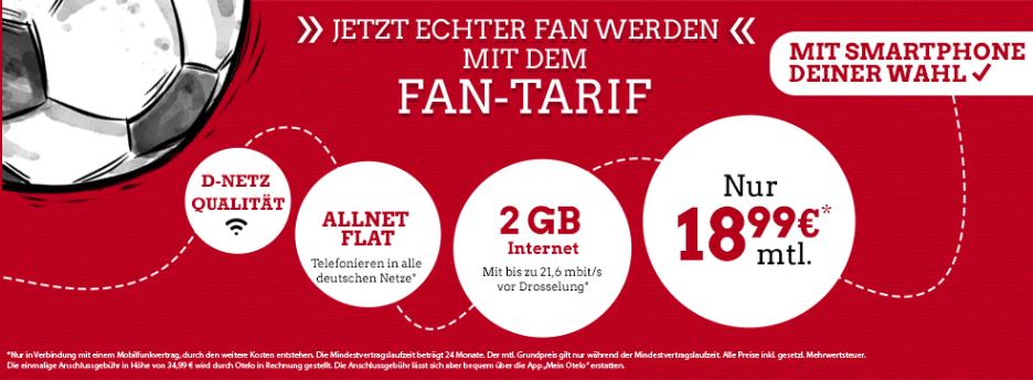 Eintracht Fantarif   Allnet Flat mit 3GB für 18,99€ mtl. mit verschiedenen Smartphones   z.B. iPhone SE 32 GB für 29€