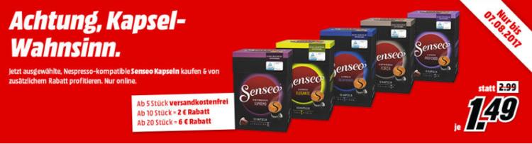 Media Markt: Nespresso Kapselwahnsinn mit bis zu 6€ Rabatt