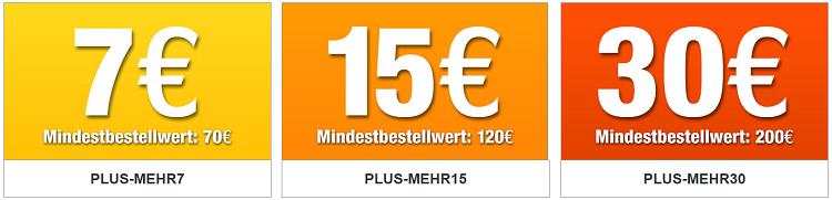 Plus.de mit bis zu 30€ Rabatt auf fast alles