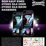 5€ Rabatt beim Kauf eines Wilkinson Hydro Silk (Bikini) – Freebie möglich