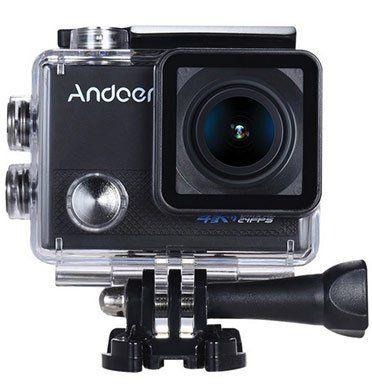 Andoer AN5000 4K Wifi Actionkamera mit Anti Shake, Weitwinkel Objektiv inkl. Zubehör für ~39,05€
