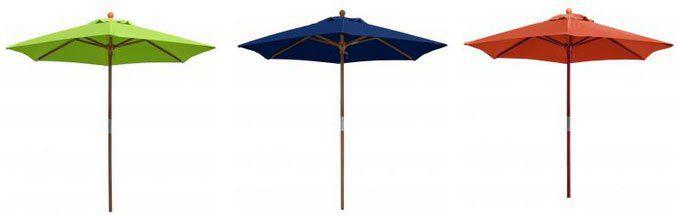 anndora Sonnenschirm (2,1m Durchmesser und 2,20m hoch) in 3 Farben für je 43,60€ (statt 70€)