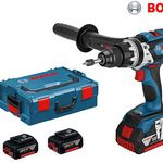 Bosch GSB 18 VE-EC Kombi-Bohrmaschine + 3 x 5 Ah Akkus für 305,90€