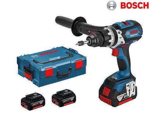 Bosch GSB 18 VE EC Kombi Bohrmaschine + 3 x 5 Ah Akkus für 305,90€